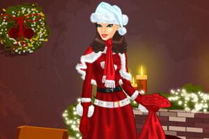 圣诞美女送礼包
