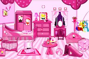 《HelloKitty的粉红卧室》游戏画面1