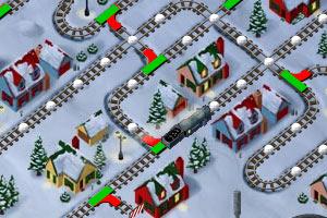 《雪天为火车指路》游戏画面1