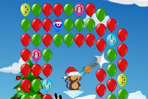 小猴子射气球2圣诞版