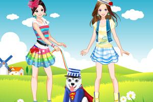 《踏青姐妹花》游戏画面1