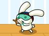 萌兔保护草莓蛋糕