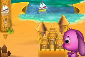 《嘟嘟的沙滩城堡》游戏画面1