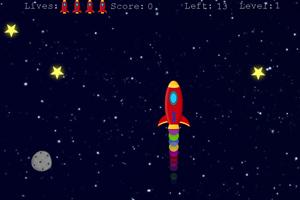 《飞船吃星星》游戏画面1