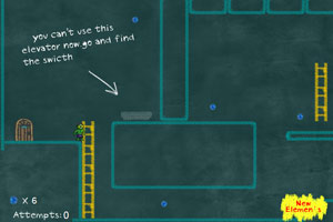 《小绿人冒险》游戏画面1