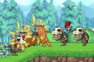 《野人部落大冒险》游戏画面1