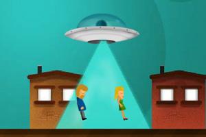 《UFO捉人實驗》游戲畫面1