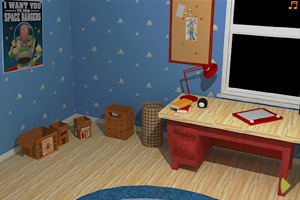《蓝色小孩房》游戏画面1