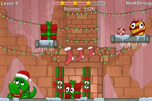 《怪物吃糖果圣诞版》游戏画面1