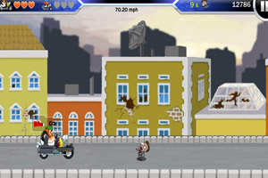 《摩托超人僵尸大战无敌版》游戏画面1