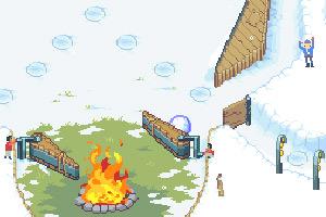 《小矮人雪地弹球》游戏画面1