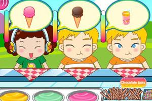 《街边冰淇淋店》游戏画面1