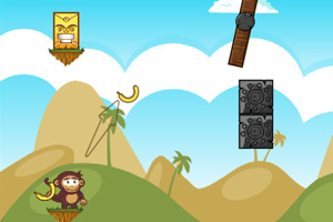 《小猴扔香蕉2》游戏画面1