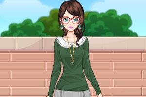 《女孩等公交》游戏画面1
