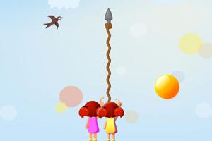 《双人射泡泡》游戏画面1