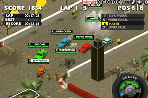 《3D疯狂车赛》游戏画面1