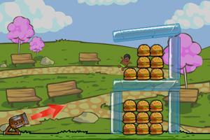 《宅男吃汉堡》游戏画面1