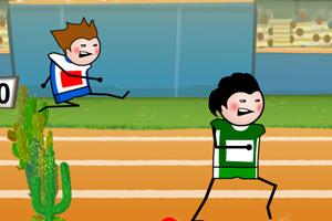 《400米跨栏比赛》游戏画面1