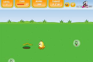 《小鸡吃虫子》游戏画面1