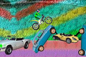 《摩托技巧彩虹城》游戏画面1