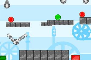 《玻璃球进箱子选关版》游戏画面1
