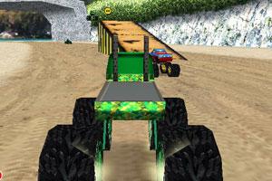 《3D怪物卡车赛》游戏画面1