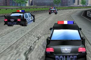 《3D警车竞速》截图1