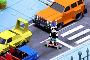 《城市滑板兔》截图1