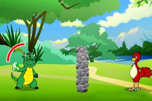 《恐龙与鸵鸟对决》游戏画面1