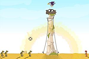 《老鹰护巢》游戏画面1
