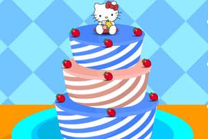 制作凯蒂猫蛋糕