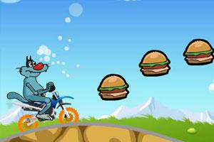 《小灰狼骑摩托》游戏画面1