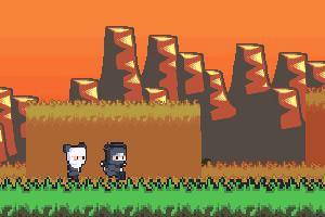 《小忍者重力赛跑》游戏画面1