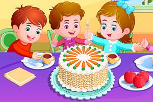 《制作蔬果蛋糕》游戏画面1