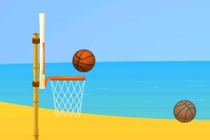 《海边练习投篮》游戏画面1