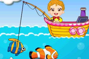《小宝宝钓鱼》游戏画面1