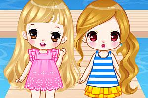 《沙滩姐妹一日游》游戏画面1