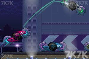《双人旋转赛车选关版》游戏画面2