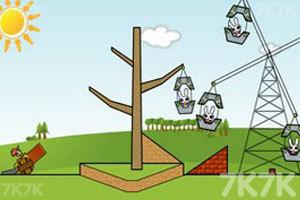 《炸死小兔子》游戏画面1