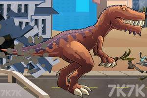 《恐龙大战火箭车》游戏画面2