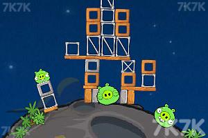 《愤怒的小鸟太空版HD》游戏画面6