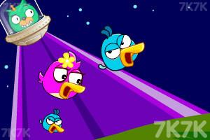 《炮打愤怒小鸟4太空版》游戏画面1