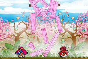 《不愤怒的小鸟情人节版》游戏画面4