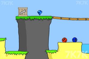 《小球找钻石》游戏画面1