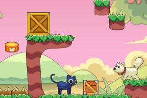 《友爱的猫猫与狗狗》游戏画面1