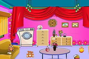 《婴儿房间逃脱》游戏画面1