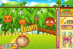 《熊教授挤橙汁》游戏画面1