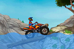 《越野摩托车试驾无敌版》游戏画面1