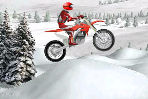 《冰山雪地摩托车》游戏画面1