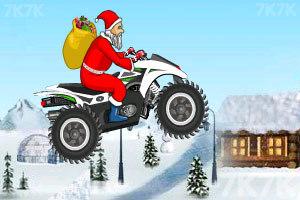 《圣诞老人冰山摩托》游戏画面5